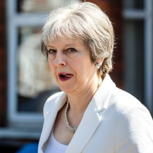 BARNET, ENGLAND - MAY 04: British Prime Minister Theresa May leaves Finchley and Golders Green Conservative Association on May 4, 2018 in Barnet, England. The Conservative Party have retained Barnet council, a key target seat for the Labour Party in yesterday's local elections. (Photo by Jack Taylor/Getty Images)